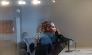 Serena Williams conducts a remote press conference behind glass, where she confirmed her withdrawal from the French Open.