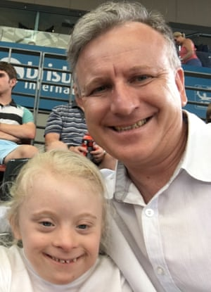 Emma with her father, Greg Jericho, who writes: 'I love showing her off in public.'
