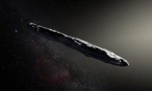 An artist's impression of 'Oumuamua