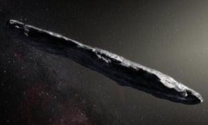 An artist's impression of the 'Oumuamua asteroid