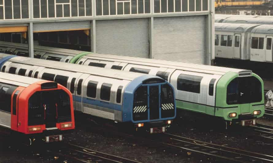 Working prototypes of David Carter's design for 1986 London Underground trains