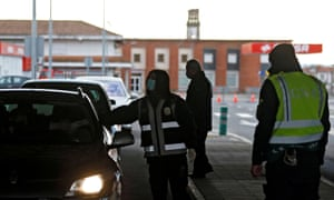 Portuguese police officers started checking cars at the border between Portugal and Spain last month.