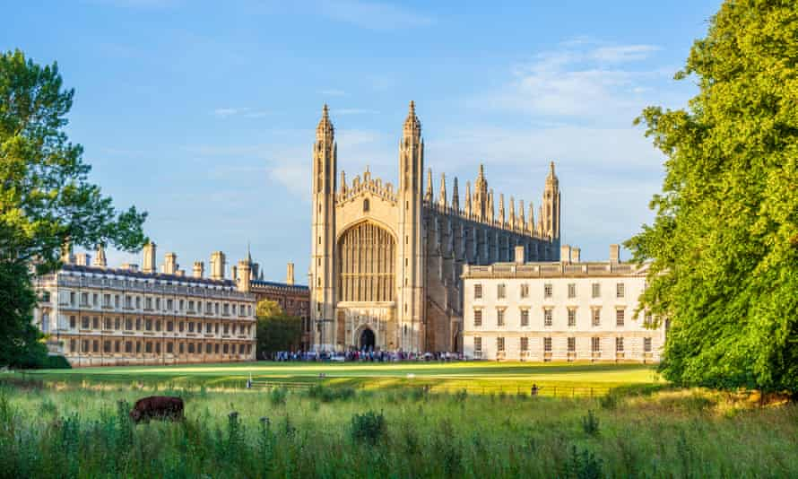 Kings College Chapel, Clare College and Gibbs Building at Cambridge University