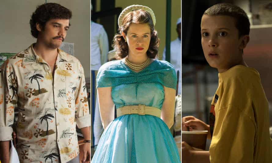 Narcos, The Crown and Stranger Things.