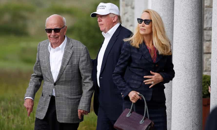 Donald Trump with media mogul Rupert Murdoch in July 2016.