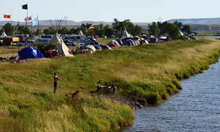 Pipeline protest encampment