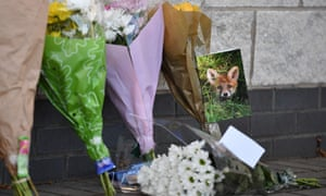 Bouquets of flowers have been laid at the King Power Stadium in Leicester.