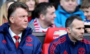 If Manchester United are forced to dismiss Louis van Gaal, left, in mid-season Ryan Giggs, right, may be given the job on an interim basis but there is no sense Ed Woodward wants him on a permanent one.