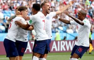 England celebrate.