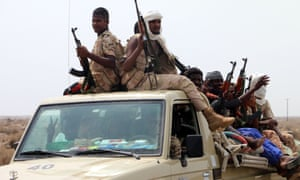 Sudanese troops in Yemen under the Saudi-led coalition.