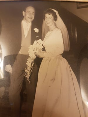Patricia and Sean Crampton, the war hero and sculptor, at their wedding in 1959
