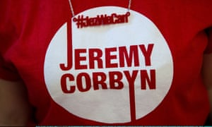 A suppoter of Jeremy Corbyn, candidate in the Labour Party leadership election, volunteers ahead of speeches at the Rock Tower in London, England.