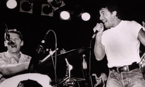 Levon Helm and Bruce Springsteen perform at The Stone Pony in August 1987 in Asbury Park.