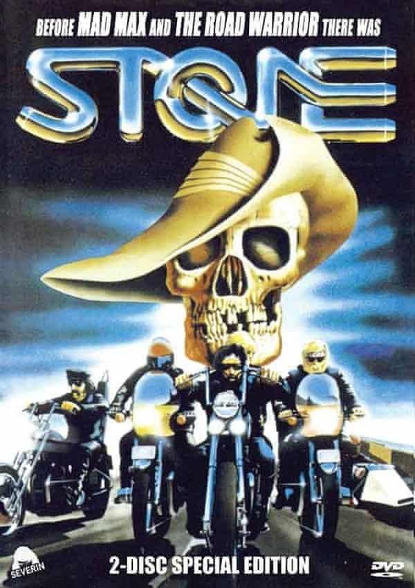 A release of Stone (1974, an Australian bikie film directed by Sandy Harbutt