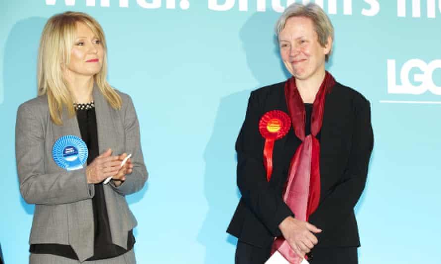 Esther McVey applauds her Labour successor Margaret Greenwood.