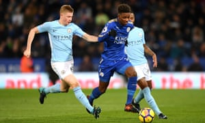 Demarai Gray caused Manchester City problems with his pace as Leicester put up a good fight.