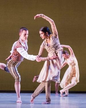 Vidya Patel as Princess Maria Barbara in An Italian In Madrid by Richard Alston Dance Company.