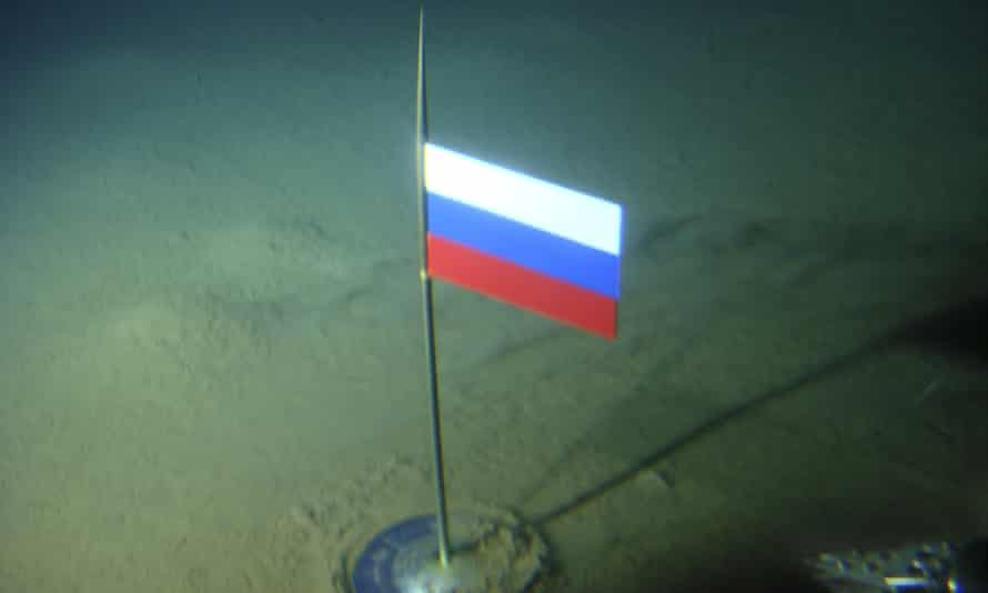 The Russian flag planted on the Arctic Ocean seabed in 2007