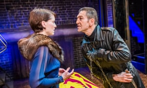 Unabashed contempt for women... Greg Hicks as Richard III, right, with Georgina Rich as Lady Anne.