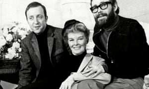 The film director Anthony Harvey, left, with Katharine Hepburn and Peter O'Toole.