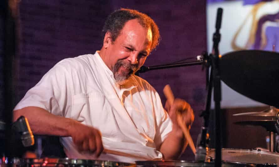 Milford Graves performing at the Vision festival, New York, 2003.