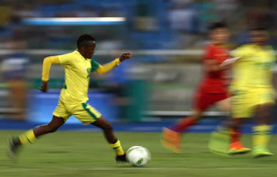 Thembi Kgatlana, African women's footballer of the year in 2018.