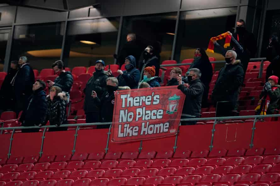 Fans back in the stands at Anfield.