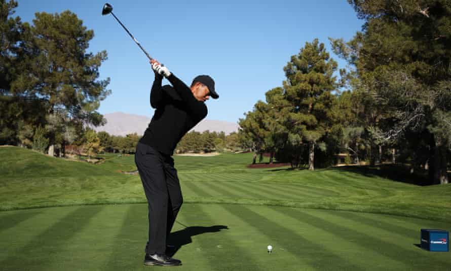 A biography of Tiger Woods, seen here during a Pro-Am Tournament on Saturday, is considered to be a frontrunner for the award.