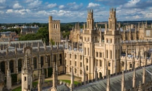All Souls College and the spires of Oxford University