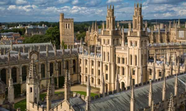 All Souls College and the many spires of Oxford University