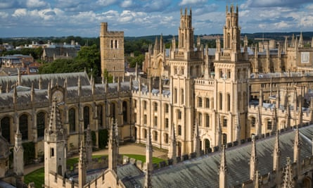 All Souls College and the many spires of Oxford University, Oxfordshire.