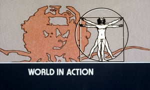 The World in Action logo from 1980.