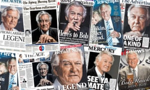 Australian papers pay tribute to Bob Hawke.