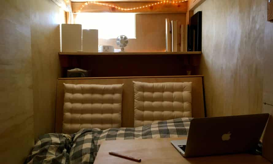 The box that Peter Berkowitz pays $400 a month to live in.
