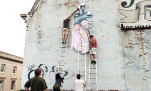 The installation of wheatpaste work by O+ artist Bonnie M. Smith in 2010.