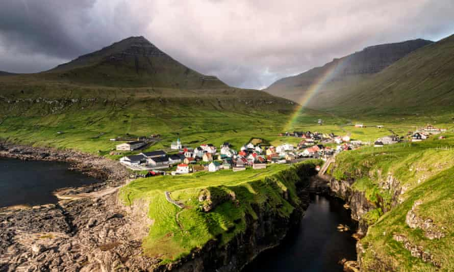 Village of Gjogv in the Faroe Islands. All UK residents need a special worthy purpose to enter the country, in line with the Danish government's strict requirements.