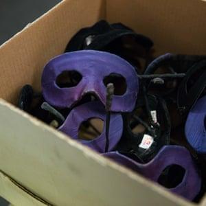 A box of masks.