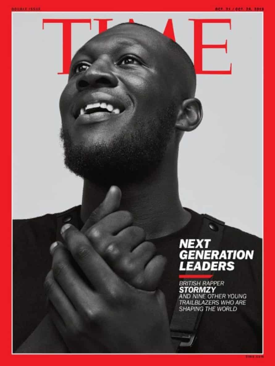 Stormzy appears on the cover of Time magazine.
