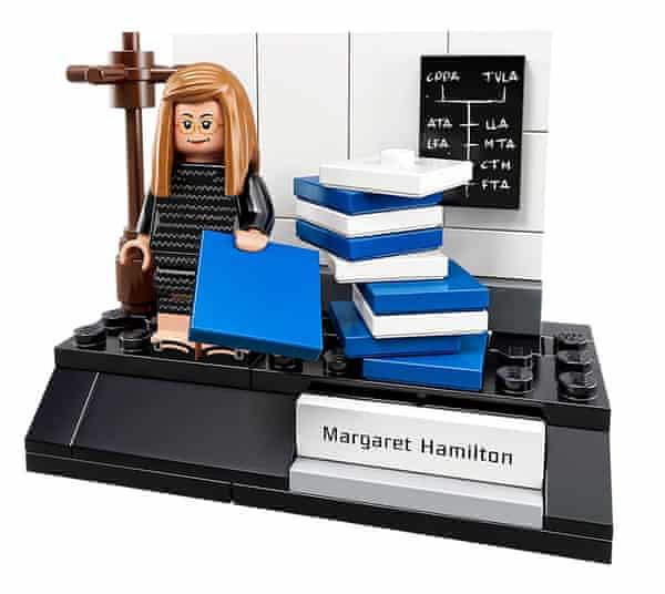 margaret hamilton as a lego figurine from 2017