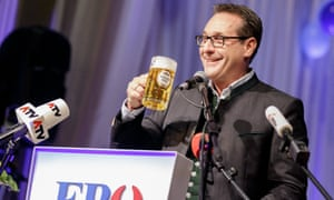 'Shrewdly bottling his nationalist poison in a pro-European vessel.' Heinz-Christian Strache of Austria's Freedom party.
