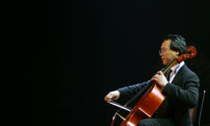 Cello pioneer … Yo-Yo Ma preforms at Tel Aviv's University, Israel, in 2006.