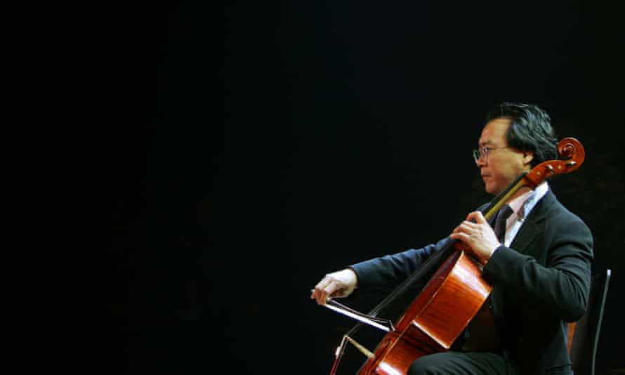Cello pioneer … Yo-Yo Ma preforms at Tel Aviv's University, Israel, in 2006.