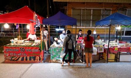 Market stalls in Chaweng on Koh Samui