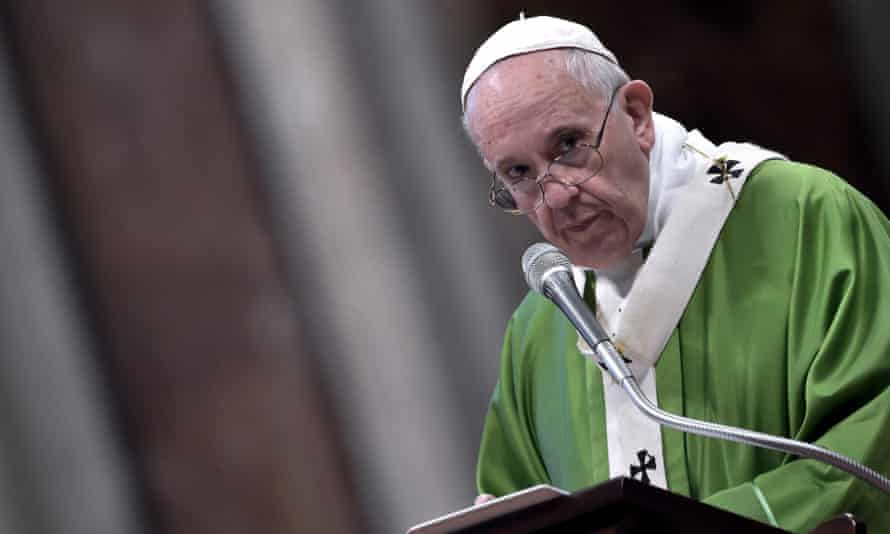 Pope Francis. The church is 'locked, in a paranoid position against the pope', Charamsa says.