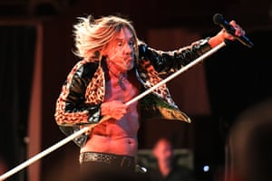 Iggy Pop performs at the Sydney Opera House.