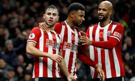 Sheffield United's George Baldock seals draw against limp Tottenham