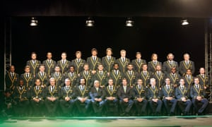 The Springbok rugby team competing in the 2015 Rugby World Cup.