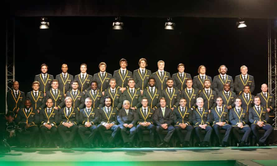 The controversial South African Springbok rugby team in 2015.