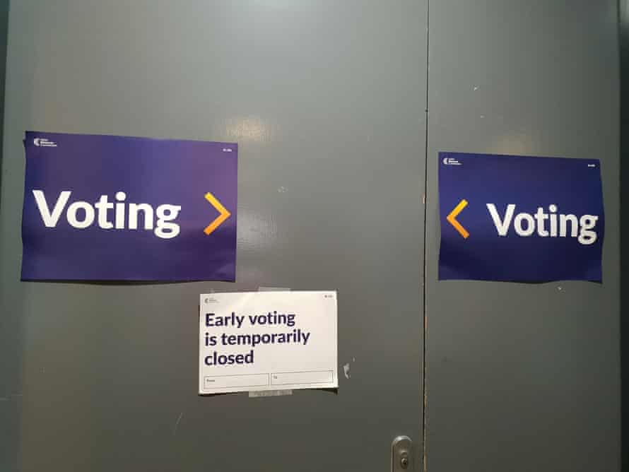Early voting booths closed on Wednesday due to computer issues.