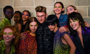 Henry Holland with models backstage ahead of the House of Holland show during London fashion week in September last year.